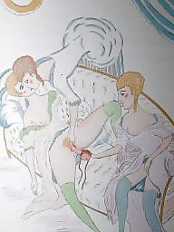 Drawings, Drawing, Draw, Vintage cartoons, Vintage cartoon, Erotic