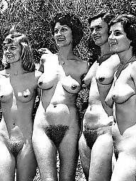 Vintage, Group, Women, Naked, Groups, Amateur group