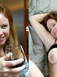 Nipple, Dressed undressed, Undressing, Redhead, Dressed, Undress
