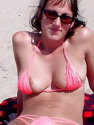 Downblouse, Bikini, Mature bikini, Dress, Underwear, Teen dress