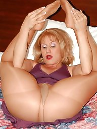 Pantyhose, Mature pantyhose, Blonde mature, Pantyhose mature, Mature mom