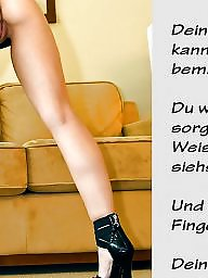 Femdom, Captions, German, Caption, German captions, Teen stockings