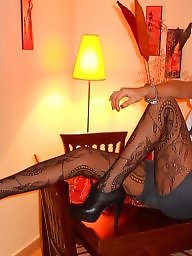 Upskirts, Heels, Upskirt, Stockings voyeur