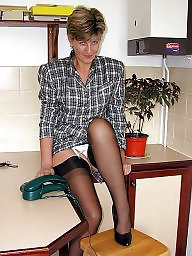 Stocking, Kitchen, Mature uk, Uk mature