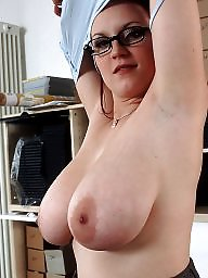 Big tits, Glasses, Glass