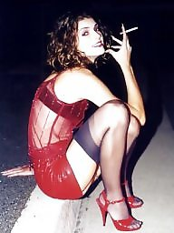 Smoking, Fetish, Tits, Heels, High heels, Smoke