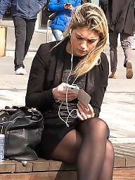 Upskirts, British, Tight, Tights