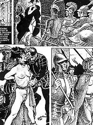 Comics, Comic, Red, Erotic, Bdsm comics, Art