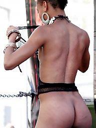 Ebony, Voyeur, Black, Public, Nudity, Exhibitionist
