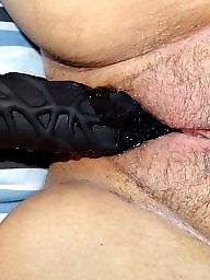 Dildo, Rubber, Black mature, Mature sex, Toy, Mature black