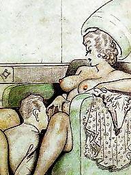 Drawings, Drawing, Erotic, Vintage cartoons, Draw