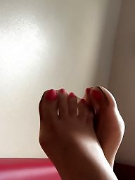 Nylon feet, Feet, Feet nylon, Stocking feet, Leg, Amateur nylon