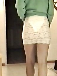 Skirt, Tights, Lace, Bitch, White, Tight ass