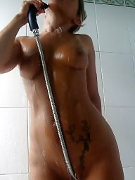 Shower, Mature boobs, Mature shower, Mature big boobs