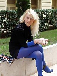 Dress, Leggings, High heels, Stockings teens