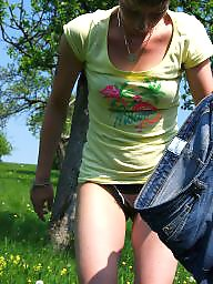 Outdoors, German milf, German amateur