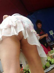 Mom, Upskirt, Mature upskirt, Sexy mom, Old mom, Mature young