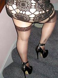 Ass, Suspenders, Girlfriend, Barely, Black stocking