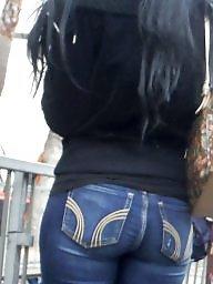 Jeans, Butt, Hidden, Blue, Beautiful teen