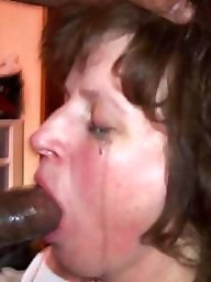 Mouth, Interracial blowjob, Black cock, White and black, Mouthful