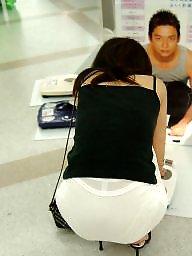 Voyeur, Public, Pretty, Japanese girl, Japanese voyeur, Japanese public