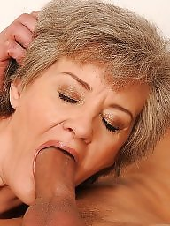 Granny, Granny blowjob, Facial, Oral, Mature facial, Mature blowjob