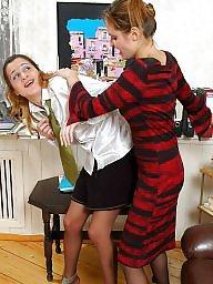 Lesbian, Pantyhose, Domination