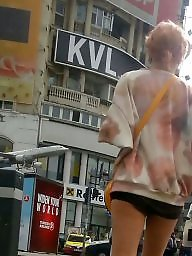 Skirt, Spy, Mini skirt, Street, Romanian, Cam