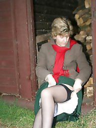 Outdoors, Outdoor, Sara, Mature outdoor, Uk mature, Stockings outdoor