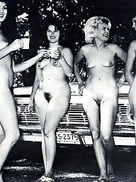 Vintage, Women, Naked, Group, Vintage amateur, Vintage amateurs