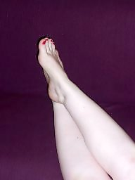 Feet, Wife, Stockings, Sexy, Cumming, Sexy wife