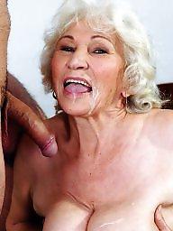 Granny, Sperm, Creampie, Mature creampie, Grannies, Granny creampie