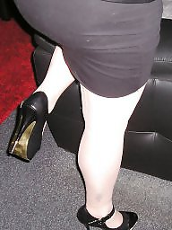Pantyhose, Upskirt, Heels, Tight, Girlfriend, Upskirt ass