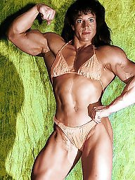 Retro, Muscle, Muscled, Female, Muscles