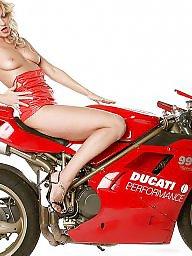 Blonde, Blonde milf, Biker, Bikers