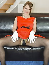 Upskirt, Dress, Tight dress, Dressed, Red, Tight