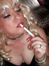 Femdom, Smoking, Blonde milf, Smoke, Femdom milf