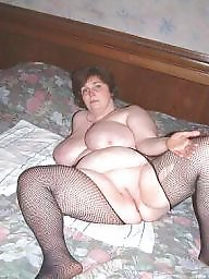 Spread, Fishnet, Bbw spread