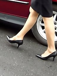 Office, Skirt, Pump, Milf stocking, Milf amateur, Stocking milf