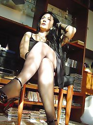 Nylon, Older, Nylons, Mature nylon, Mature nylons, Nylon mature