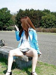 Outdoors, Amateur asian
