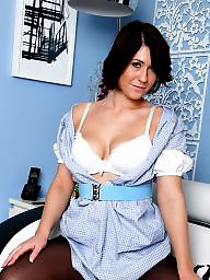 Nurse, British, Upskirt stockings, Uniform, Tight