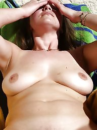 Naked, Mature amateur, Sun, Naked mature, Backyard