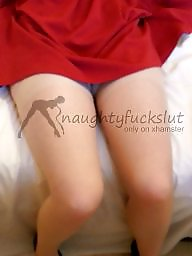 Upskirts, Red, Before, Amateur stockings