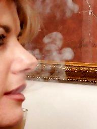 Smoking, Smoke, Lesbian milf, Nylon, Milf nylon, Milf lesbian