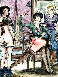 Spanking, Spanked, Spank, Bdsm cartoon, Bdsm cartoons, Cartoon bdsm