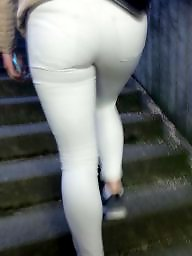 Pants, Tight ass, Tight, Hidden cam, White ass, White