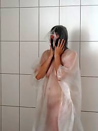 Mature shower, Amateur mature, Raincoat
