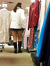 Milf, Upskirts, Shop, Upskirt milf, Shopping, My wife