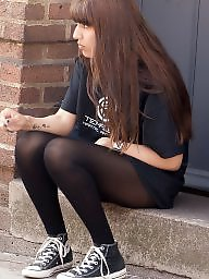 Smoking, Teen stockings, Smoke